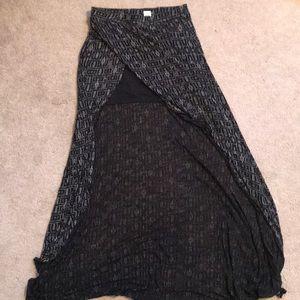 Billabaong maxi high low skirt M